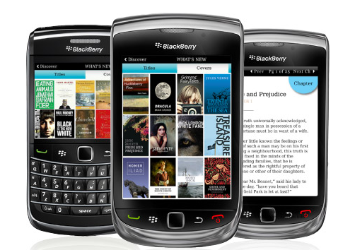 Lee libros con Blackberry