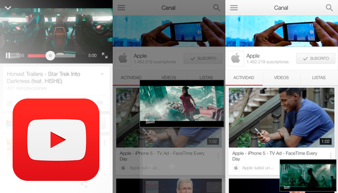 iOS actualiza YouTube