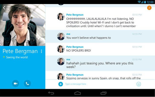 Skype 4.4 para Android