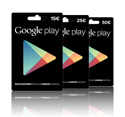 Tarjetas de regalo de Google Play