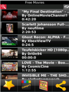 MovieTube para BlackBerry