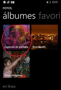 cómo realizar capturas de pantalla con Windows Phone