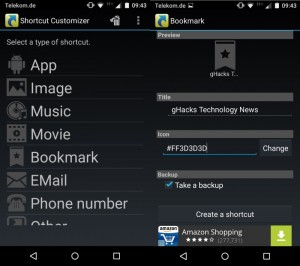 Shorcut Customizer para Android