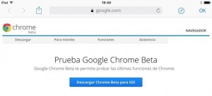 Google Chrome llegó a iOS