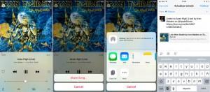 cómo compartir canciones de Spotify y Apple Music en Facebook