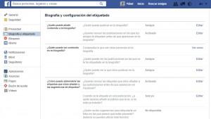 administrar el timeline de Facebook