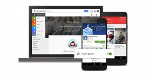 compartir aplicaciones con Google Play Family