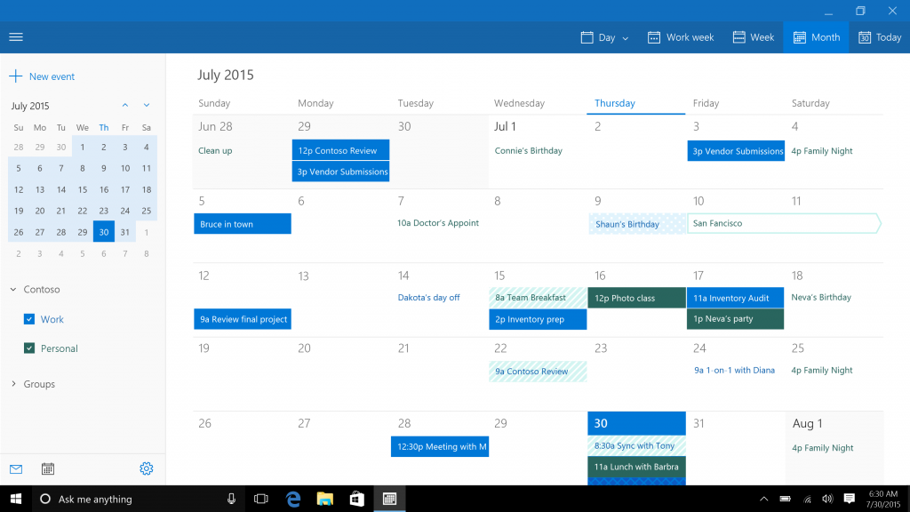 go to www bing comhttps://support office com/en-us/article/what-s-new-in-mail-and-calendar-for-windows-10-9822b33c-b9ad-48bc-ac53-c1b6136e405b?ui=en-us&rs=en-us&ad=us
